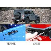 For Jeep Wrangler 2007 2017 Aluminum Grab Handle Pull Inserts Cover Car Door Handle Trims