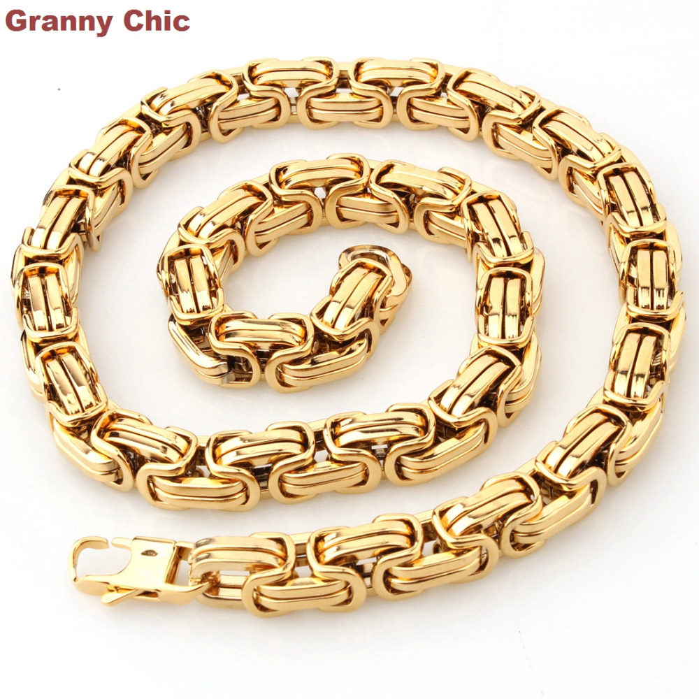 Granny Chic Popular Design Men S Jewelry Gold Color Stainless