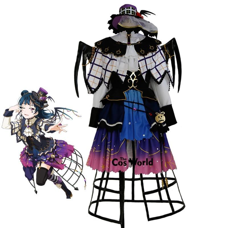 Платье накидка на Хэллоуин с надписью Love Live Sunshine Aqours Tsushima Yoshiko, костюм для косплея
