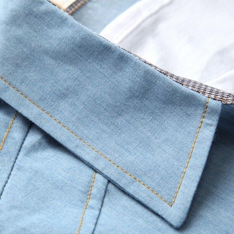 Brand Men Shirt Jeans Shirt Men Long Sleeve Turn-down Collar Cotton Shirt Male Slim Fit Camisa Masculina Casual Men Shirts Model 9