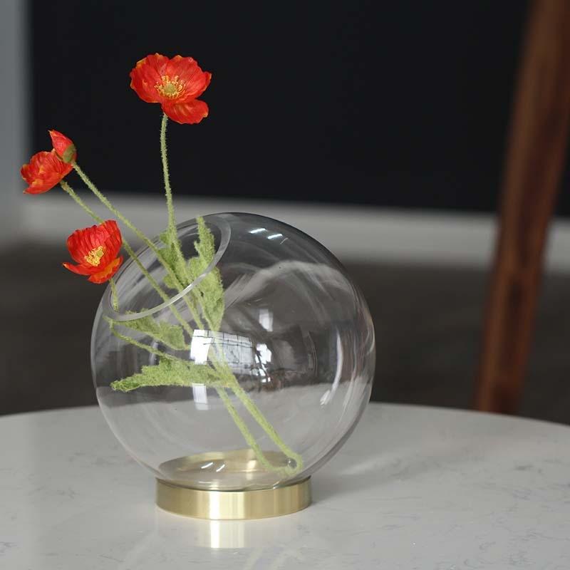 Blumentopfe Vasen Clear Glass Round Flower Vase Home Wedding Modern Floral Display Centrepiece Mobel Wohnen