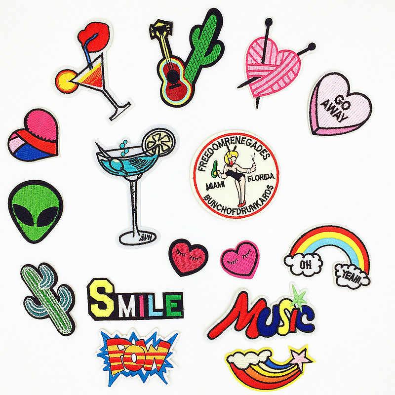 1 шт. мультфильм наклейки для одежды детские парки Bordados буквы-наклейки нашивки одежда стальная ткань полосы значки