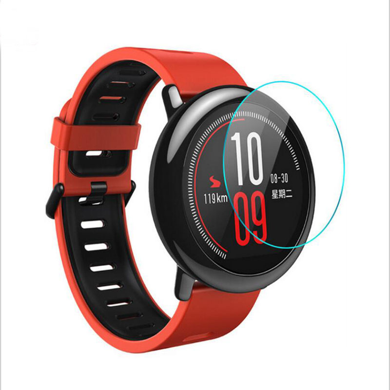 Ultra Clear Tempered Glass Protective Film Guard For Xiaomi Huami Amazfit PACE Sports Smart Watch Display Screen Protector Cover все цены
