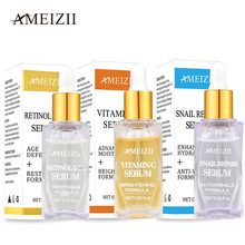 Ameizii Vitamin C Retinol Serum Snail Face Brighten Skin Pure Hyaluronic Acid Whitening Cream Anti-Aging Care Essence