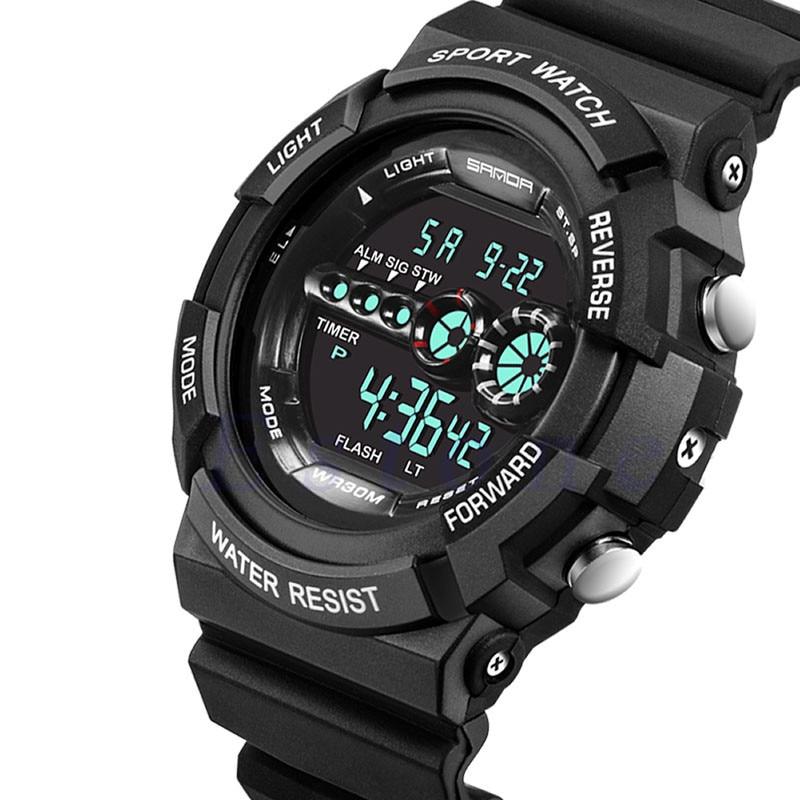 2017 New Mens Stainless Steel LED Digital Date Alarm Waterproof Sports Army Quartz Watch Dropshipping L522 стоимость