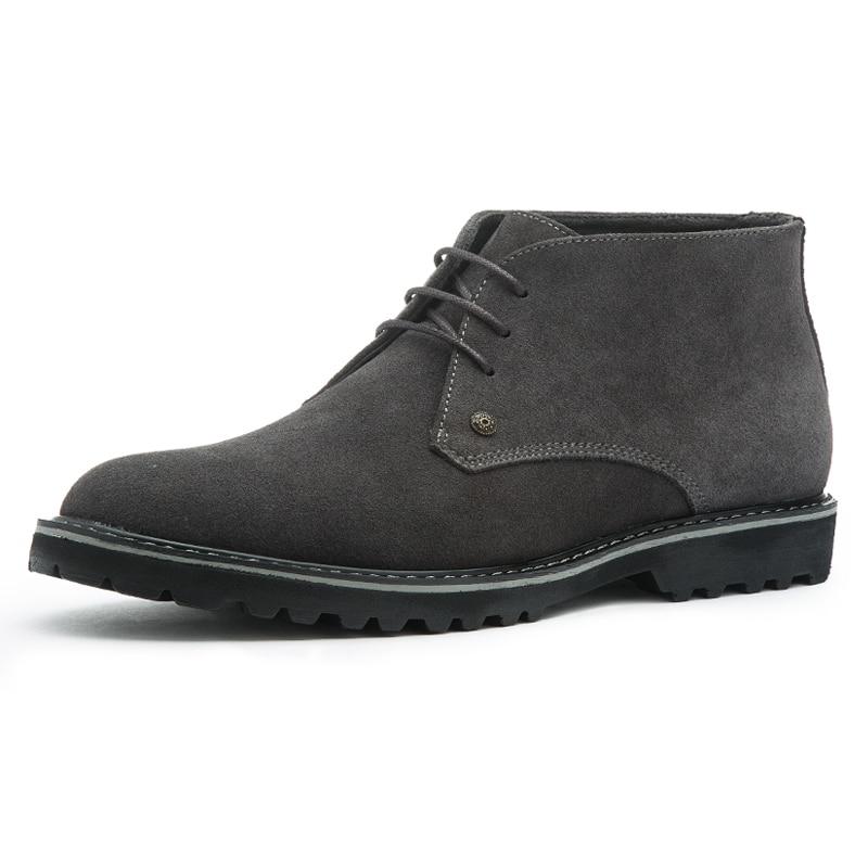 grey Chuva Ankle Boots Chelsea Marca Black 45 Inverno Genuíno Luxo Martin Dos De blue Casuais Camurça Homens Tamanho Grande 46 Botas Deserto Couro BqfHwFCPx