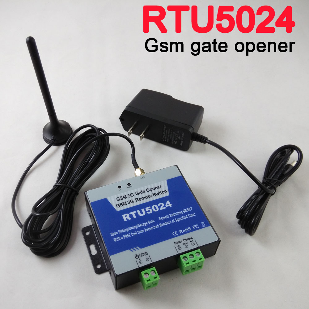 RTU5024 GSM Gate Opener Relay Switch Remote Access Control Wireless Door Open Home Good Helper Free shipping App support automatic sliding gate opener drive gate for 3600lbs 1800kg door gate with remote controller