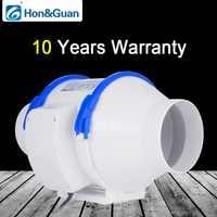 Hon & Guan 4 ''~ 8'' домашний бесшумный встроенный канальный вентилятор с сильной вентиляционной системой вытяжной вентилятор для кухни ванной ком...