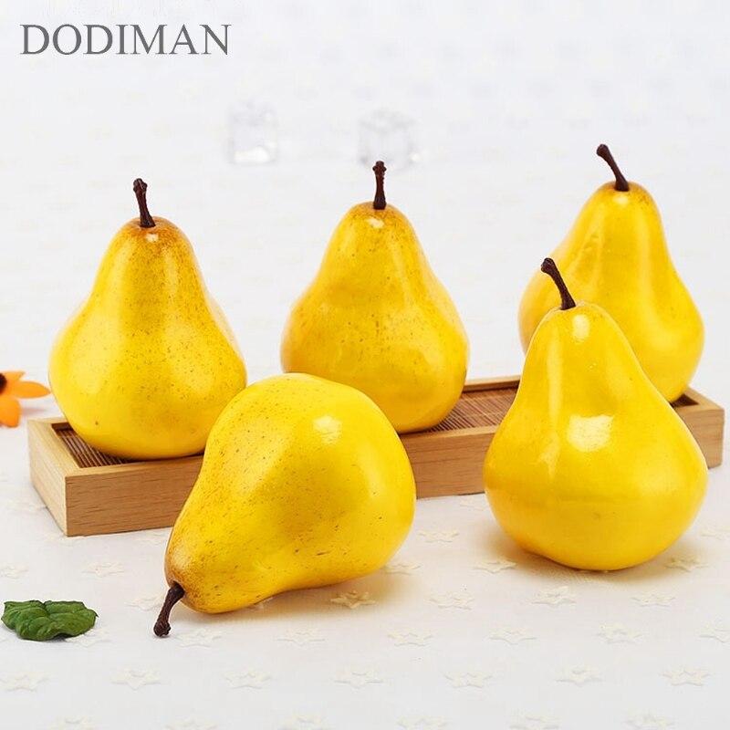 Simulation Foam Fruit Pear Model Decoration DIY Plastic Artificial Fruit For Home  Garden Decor Accessories Photography Props