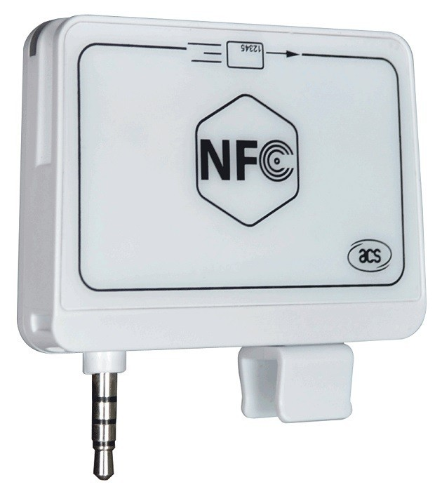 Portable ACR35 RFID NFC Mobile Card Reader for mobile AES 128 encryption algorithm and DUKPT Key