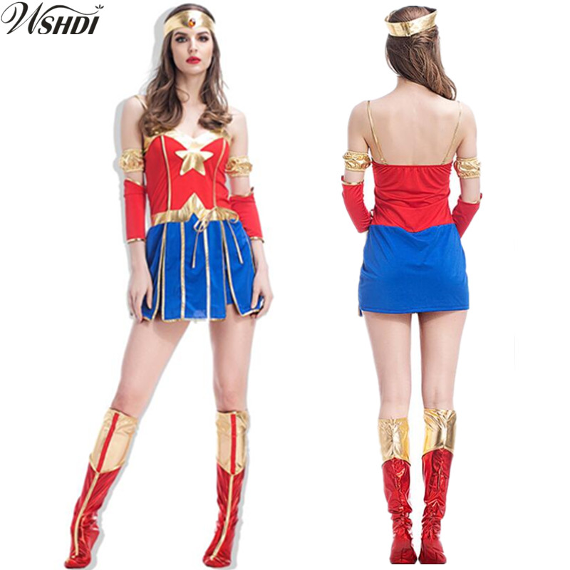 2018 New Sexy Super Hero Super Girl Ladies Wonder Woman -4392