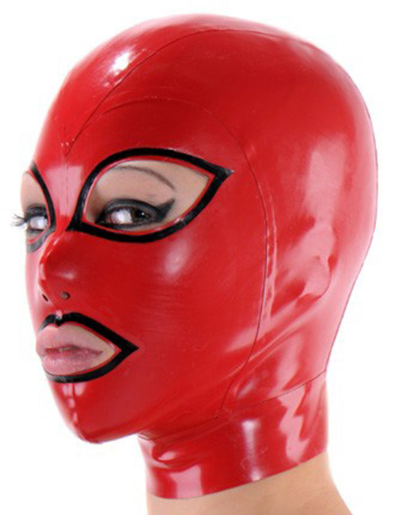 Unisex latex hood rubber mask with open eyes and mouth plus size Hot sale Customize service