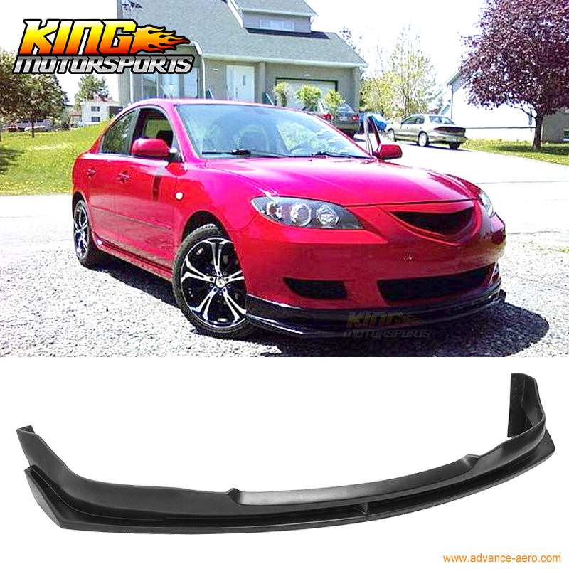 For 2004 2005 2006 Mazda 3 Type I Front Bumper Lip
