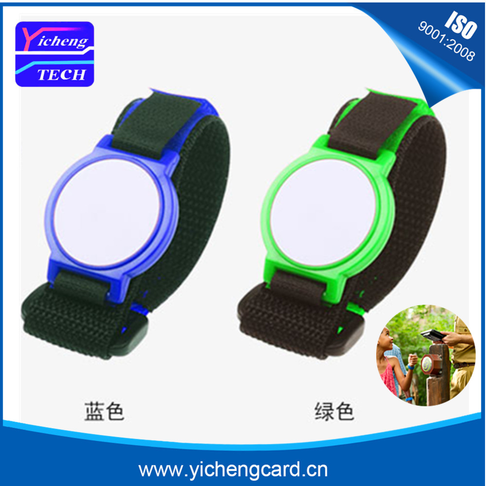 100db / tétel 13,56MHz NFC ABS RFID karkötő / karkötő Fudan 1k S50 chipekkel spa / szaunához / fitneszhez / úszómedencékhez