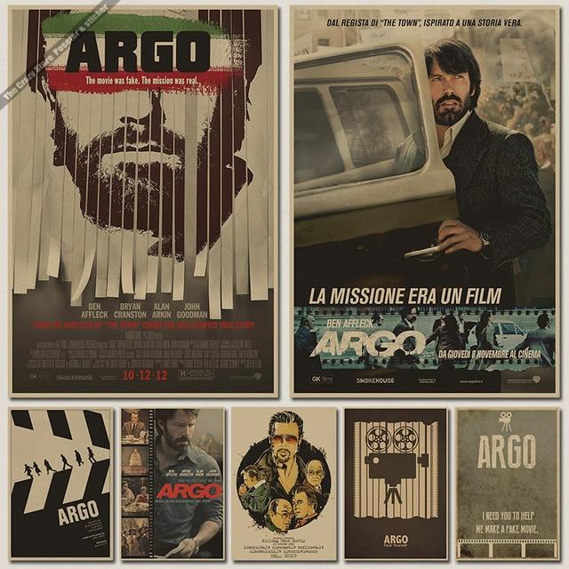 Argo Oscar Poster Retro Kraft Paper Core Decorative Wall Paintings Wallpaper Paste Sticker