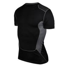 Новинка, Мужская компрессионная футболка, черный, белый, серый цвета, футболки для бодибилдинга, фитнеса, тактические, под базовый слой, колготки, топ с коротким рукавом
