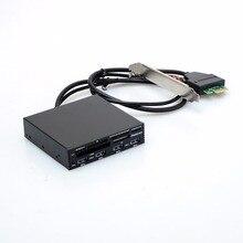 Nuevo 3.5 En Interna PCI-E PCI Express USB 3.0 HUB Lector de Tarjetas Lectores de Tarjetas de Memoria SD SDHC MMS XD CF M2 y Adaptadores de T20