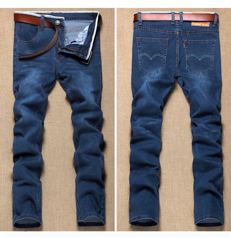 Размера плюс 8xl 4xl 6xl 48 50 52 мужские брюки в стиле хип-хоп хлопковые топы черные синие длинные брюки мужские брендовые длинные джинсы - Цвет: model 6