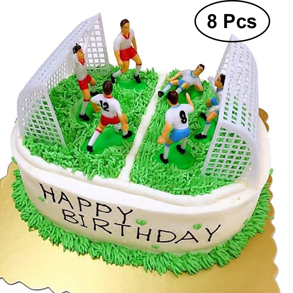 Remarkable 8Pcs Football Cake Topper Decor Soccer Player Cake Decor Birthday Birthday Cards Printable Giouspongecafe Filternl