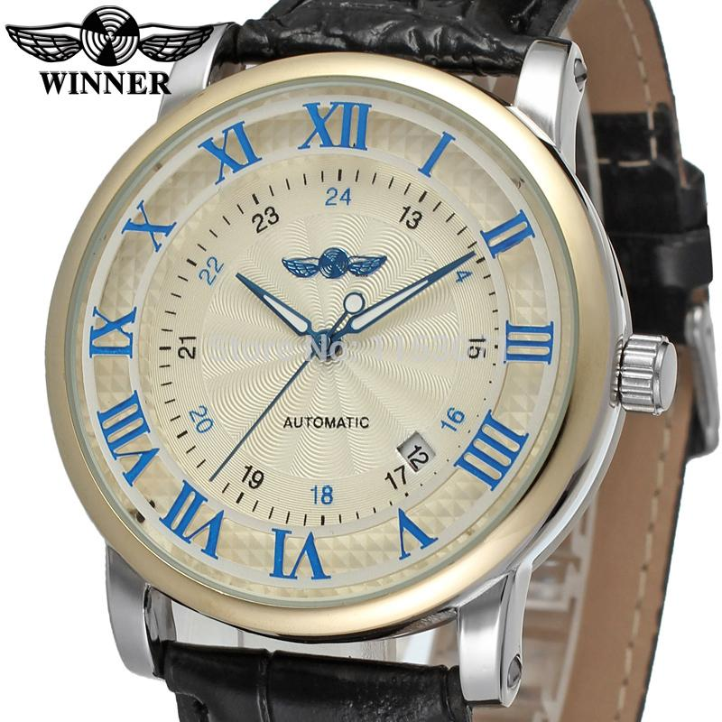 compare prices on watch company men online shopping buy low price wrg8051m3t3 winner new automatic men silver color dress watch factory company brown leather strap shipping
