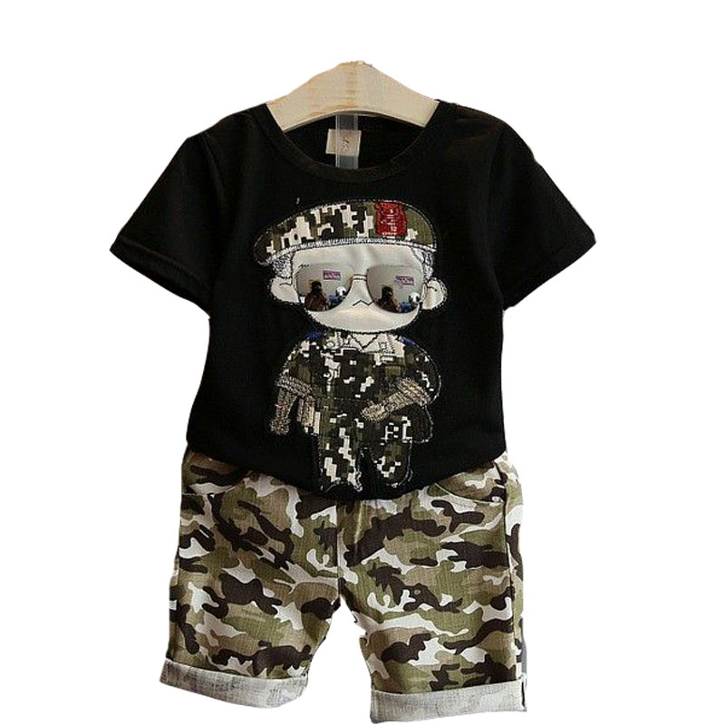 Stay Naive Boy Clothes Sets Kids 2pcs Child Clothing Suits