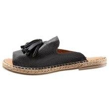LOOZYKIT/Женская обувь; zapatos de mujer; коллекция года; летние пляжные шлепанцы; удобные женские повседневные тапочки с кисточками; сандалии; домашняя Уличная обувь