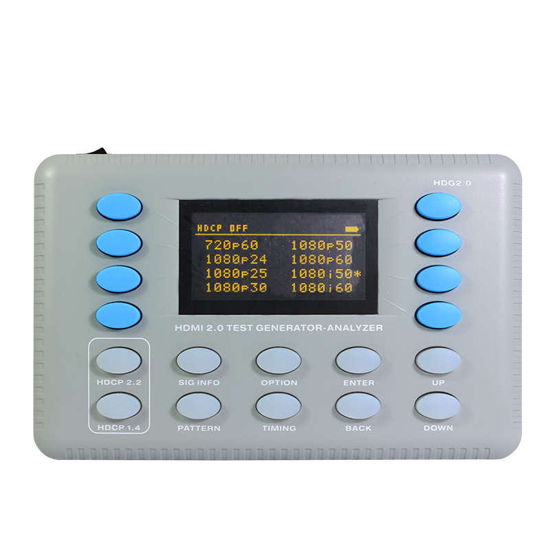 HDMI 2.0 Test Generator-Analyzer is designed for the AV integration market to confirm HDMI 2.0 HDCP 2.2 system at 18Gbps Level