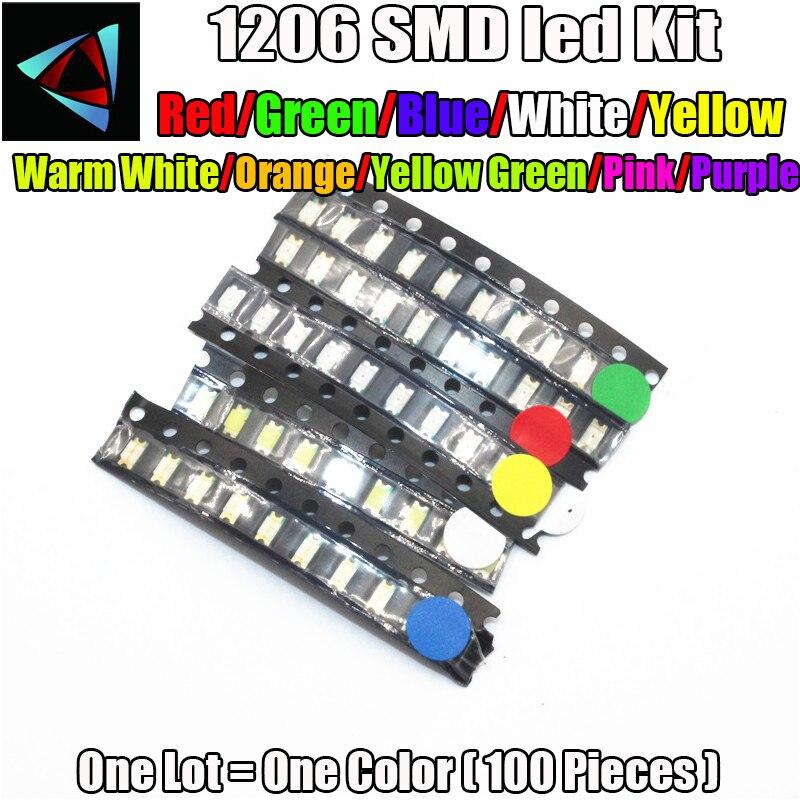 1000pcs lots 1210 SMD warm white LED 3528 SMD LED PLCC-2 Super bright light