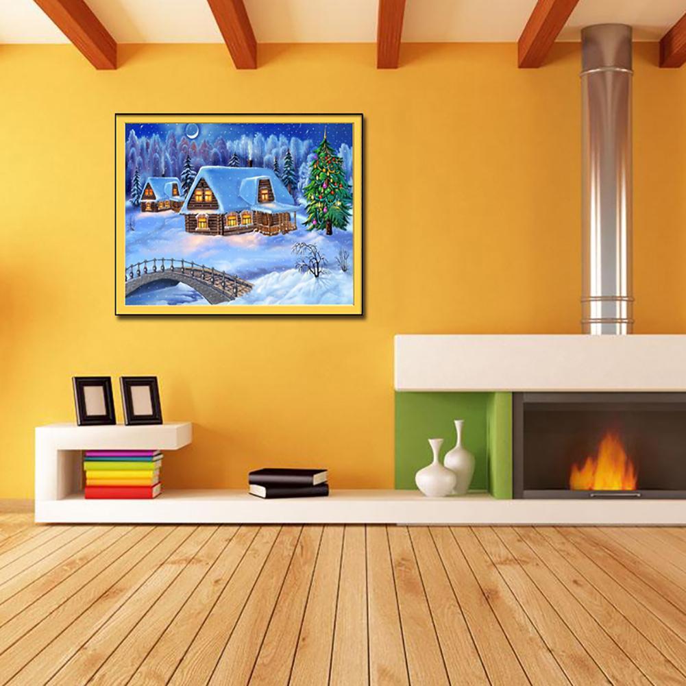Snow Scenery Full Diamond Painting Tool Kit Resin DIY Christmas Home ...