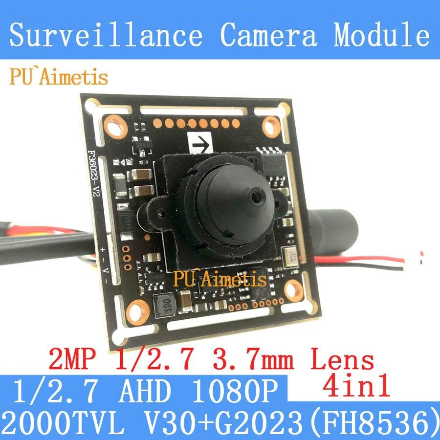 PU`Aimetis 4in1 surveillance camera AHD coaxial 1/2.7 2MP 1920*1080 pinhole Mini CCTV 1080P mini night vision Camera Module pu aimetis 4in1 2mp 1920 1080 ahd cctv 1080p mini night vision camera module 1 2 7 2000tvl 3mp 6mm lens ahd surveillance camera
