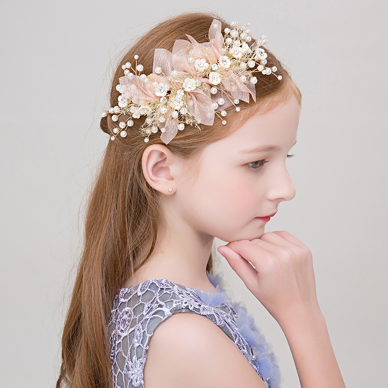 1af47eeaafb6f Princess Flower Headband Girls Headpiece Hair Ornaments for Wedding Teens  Party Performance Headdress Handmade Hairwer Gifts New