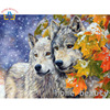 Painting Calligraphy Diy Oil Pictures By Number Animals Wolf Acrylic Coloring Drawing By Number Modular Canvas