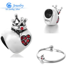 New! Hearts Jewelry 925 Sterling Silver Charm European Charms Silver Beads Fits Leather Bracelets Women GW Jewelry X348H30