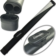 FreeShipping Cuesoul Black White Composite Two Tone Pool Cue Tube Case Billiard Snooker Canister