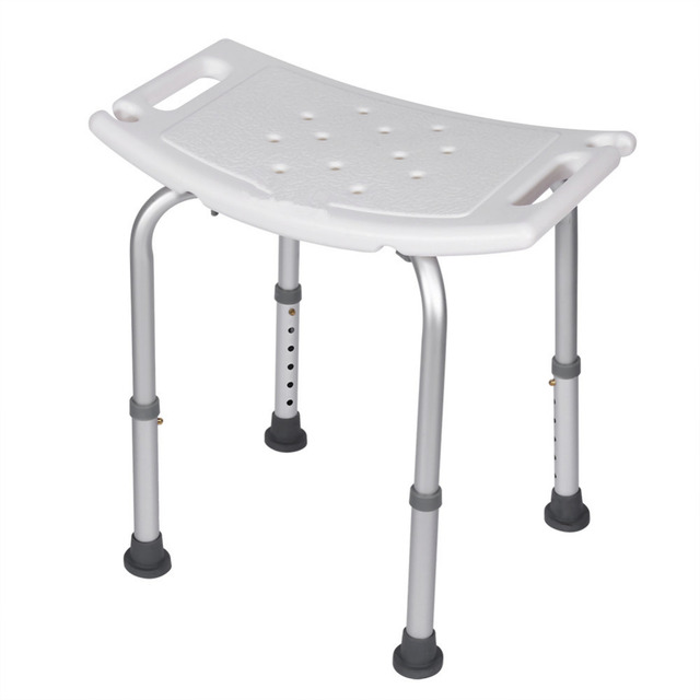 The Sturdy Shower Stool Bath Aid Seat Chair Without Back Adjustable Height  Bath And Shower Seat