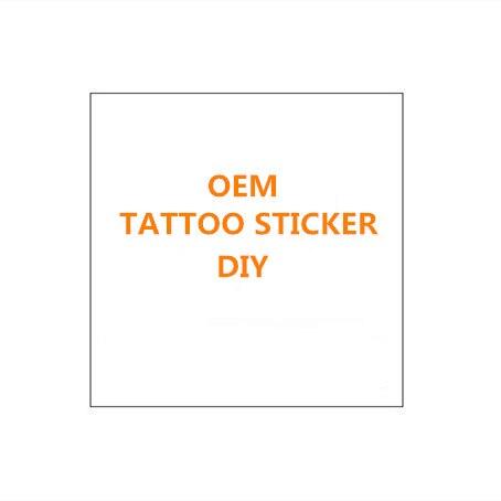 Su misura Impermeabile Autoadesivo Del Tatuaggio Temporaneo FAI DA TE Personale Flash Tatoo Falso Tatuaggi Fare Il Vostro Proprio Progettato Tatuaggio