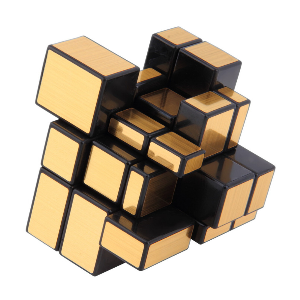 NEW 3x3x3 Compact and portable Mirror Blocks Silver Shiny Magic Cube Puzzle Brain Teaser IQ Kid Funny Worldwide Great gift diy 3x3x3 brain teaser magic iq cube complete kit black