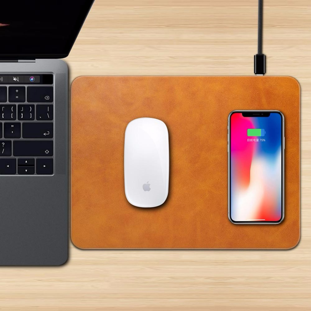 Mobile Phone Qi Wireless Charger Charging Mouse Pad Mat for iPhone X 8 8Plus for Samsung ...