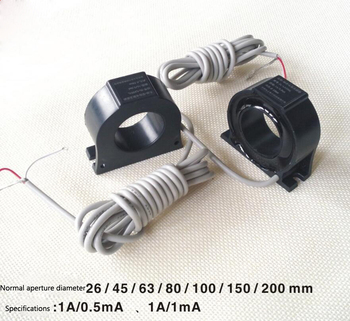 DL-LX45AL~1A/0.5mA or-1A/1mA Zero sequence current transformer 2000/1 or 1000/1  residual current detection,fire monitor .