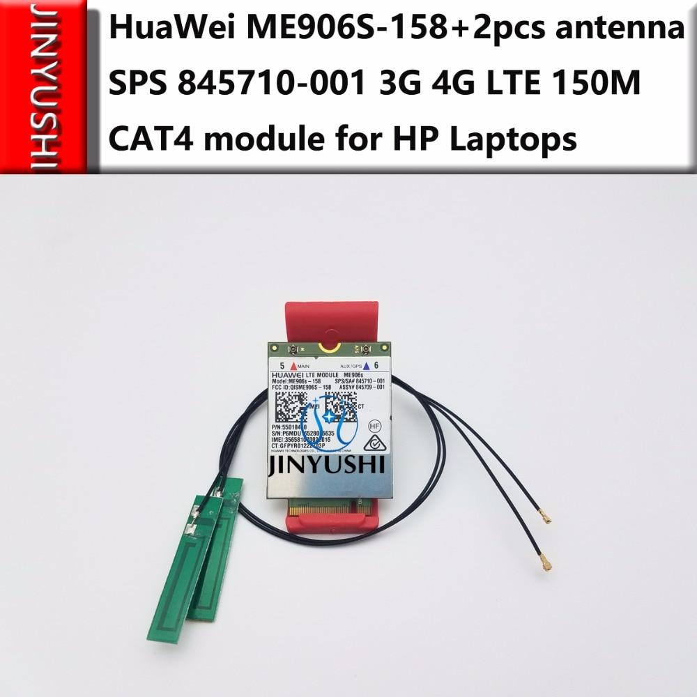 JINYUSHI For ME906S ME906S 158 2PCS antenna LT4132 SPS 845710 001 4G LTE module for HP