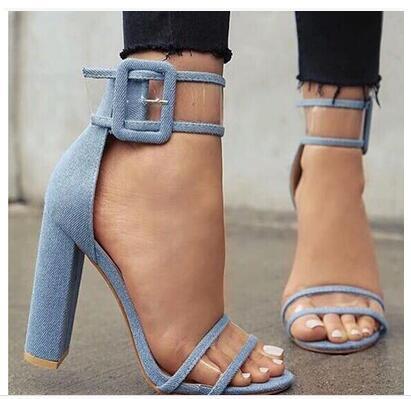 Newest Design Women Summer Peep Toe Transparent Hand Made Hollow out sandals High Heels Fashion Shoes trendy women s sandals with hollow out and peep toe design