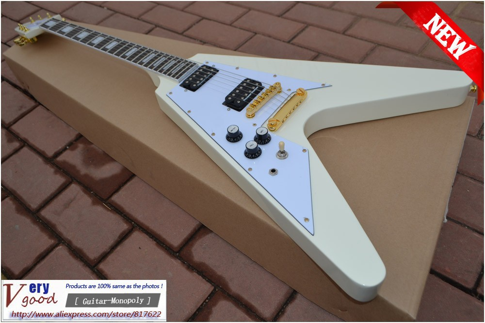new ! yellow color 1958 korina flying v Left hand Electric Guitar EMS free shipping vegas left hand natural color acoustic electric guitar free bag free shipping