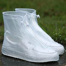 High Quality Men Women's Rain Waterproof Boots Cover Heels Boots Reusable Shoes Covers Thicker Non-slip Platform Rain Boots #921(China)