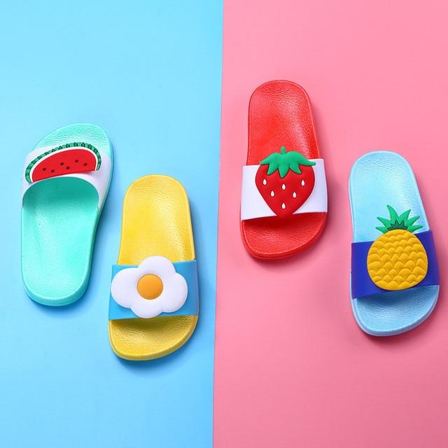 Baby Kids Girls Boys Girls Slippers Toddler Water Children Flip Flops Barefoot Child Fruit Shoes Swimming Summer for Kids baby