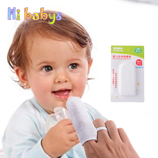 Baby Jari Sikat Gigi Bayi Lembut Mulut Tisu Pembersih Kasa Gigi Oral