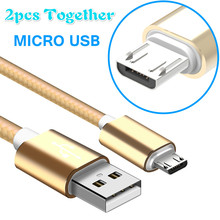 2 pcs together Micro USB Cable Android fast Charging cable ข้อมูลสำหรับ Xiaomi หมายเหตุ 5 สำหรับ Huawei สำหรับ Samsung