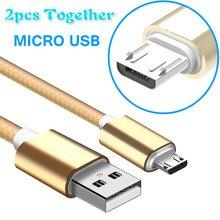 2 piezas juntos Cable Micro USB trenzados libres Android rápido de carga Compatible con cable de datos para Xiaomi Nota 5 para Huawei para Samsung