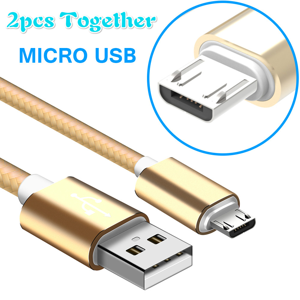 2pcs together Micro USB Cable Free Braided Android fast Charging Compatible Data cable For Xiaomi note 5 for Huawei for Samsung-in Computer Cables & Connectors from Computer & Office