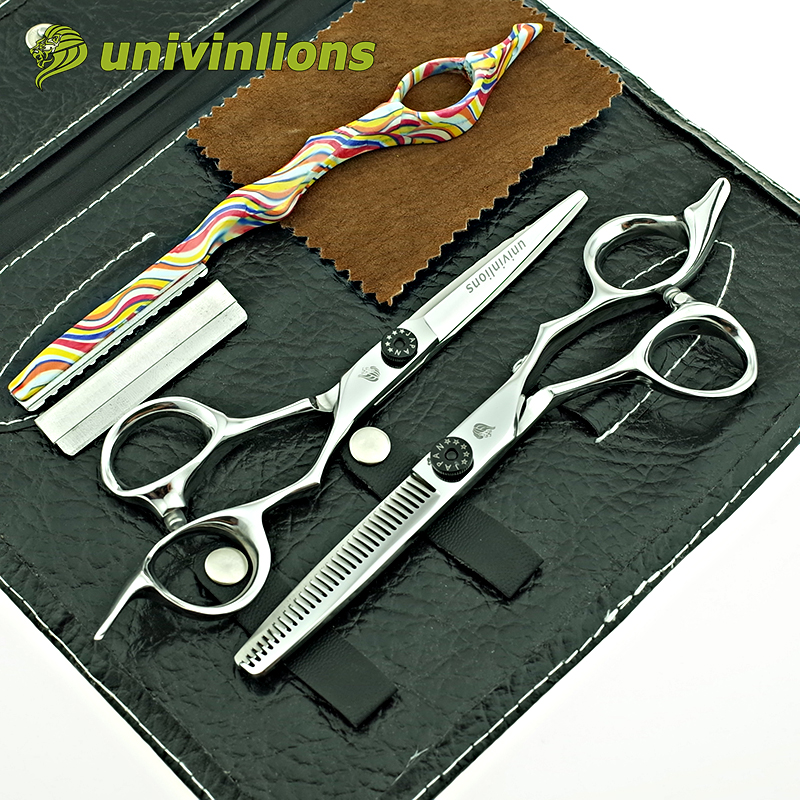 univinlions 6 new arrival hair scissors professional hair dressing scissors hair cut scissor shears hairdresser barber razor
