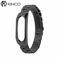 KINCO Replacement Black Silver Rose Gold Bands Metal Stainless Steel Frame Wrist Strap Bracelet Wristband For